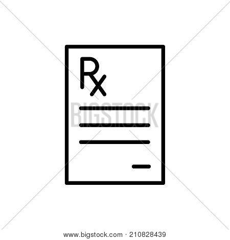 Modern prescription line icon. Premium pictogram isolated on a white background. Vector illustration. Stroke high quality symbol. Prescription icon in modern line style.
