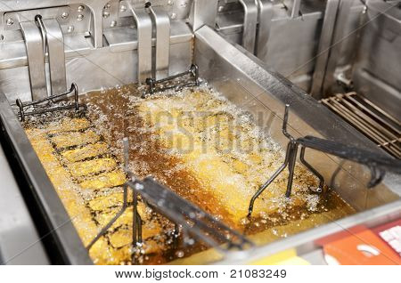 Deep Fryer With Boiling Oil
