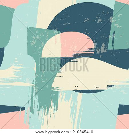 Abstract artistic seamless pattern with trendy hand drawn textures. Modern abstract design for paper, cover, fabric, interior decor and other users.