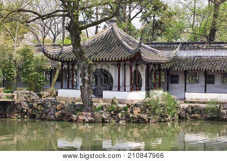 detail of the Humble Administrator's Garden. Suzhou, China.