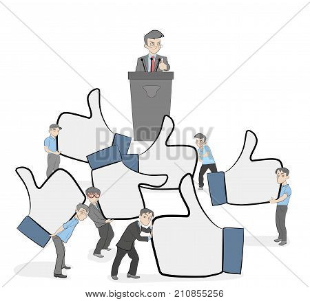 crowd working little vector photo free trial bigstock