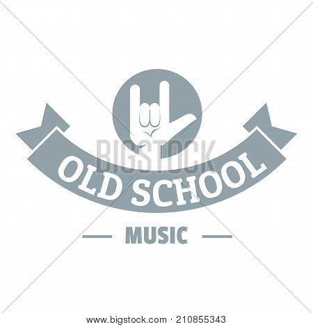Old school music logo. Simple illustration of old school music vector logo for web