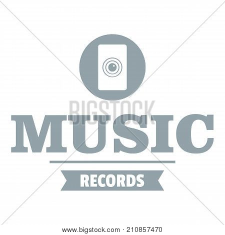 Music record logo. Simple illustration of music record vector logo for web