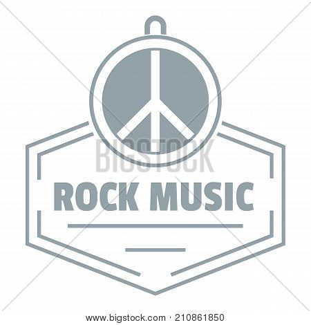 Hippie rock music logo. Simple illustration of hippie rock music vector logo for web