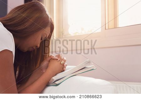 Young Lady's Morning Prayer And Bible Study