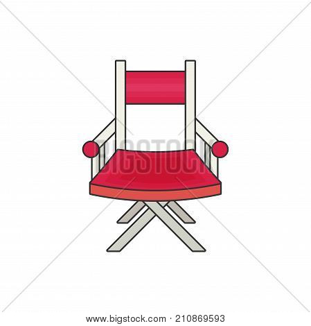 director's chair flat vector isolated on white background