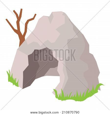 Cave icon. Isometric illustration of cave vector icon for web