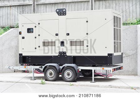 Caravan generator electric for repair hurricane damage. Office Backup Power Generator.