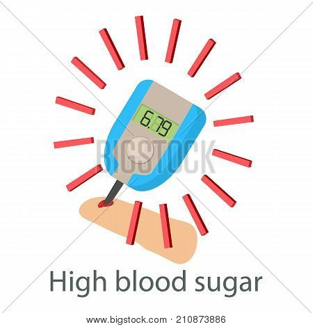 High sugar blood icon. Isometric illustration of high sugar blood vector icon for web