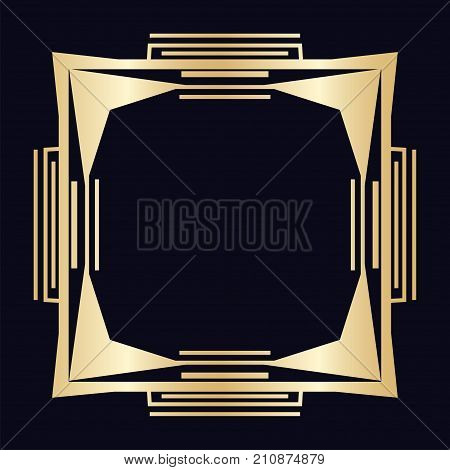 Vintage Retro Border And Frame In Art Deco Style. Template For Your Design. Vector Illustration Eps1