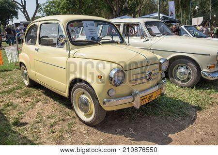Fiat 600  (1970) Vintage Car Presented On Annual Oldtimer Car Show, Israel