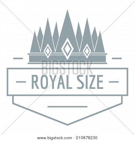Royal size logo. Simple illustration of royal size vector logo for web