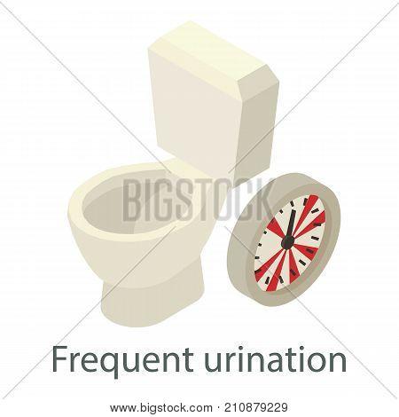 Frequent urination icon. Isometric illustration of frequent urination vector icon for web