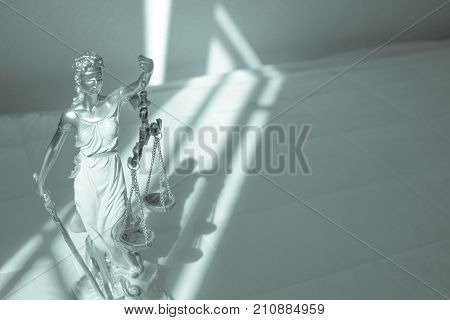 White female statue symbol of justice Themis. This figure has not specific author no model release needed.