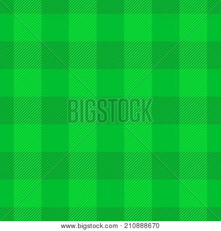 Green lumberjack plaid pattern. Seamless vector pattern. Simple vintage textile design.