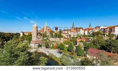 Alte Wasserkunst and city center, Bautzen, Saxony - Germany
