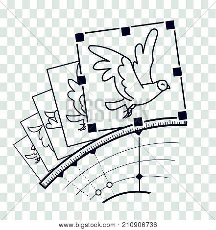 Silhouette Concept Hand Drawn