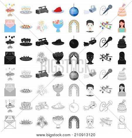 England country set icons in cartoon style. Big collection of England country vector symbol stock