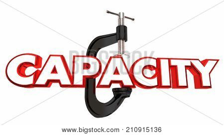 Capacity Squeezed Vice Limited Resources Tight Clamp 3d Illustration