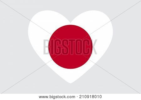 Heart Colors Symbols Japanese Flag Vector Photo Bigstock