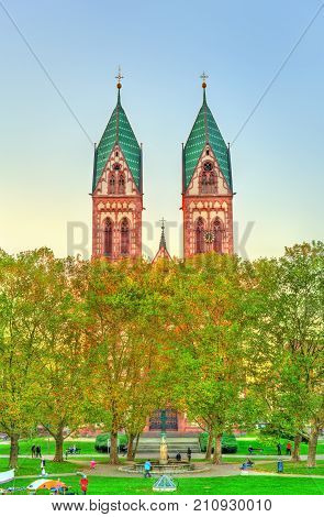 The Herz-Jesu or the Sacred Heart of Jesus church in Freiburg im Breisgau - Baden-Wurttemberg, Germany