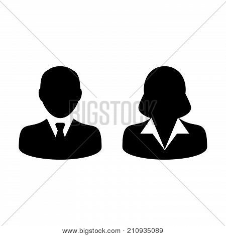 People Icon Vector Male And Female Sign Of User Person Profile Avatar Symbol In Glyph Pictogram Illu