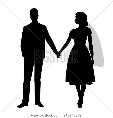 The Bride And Groom Silhouette.