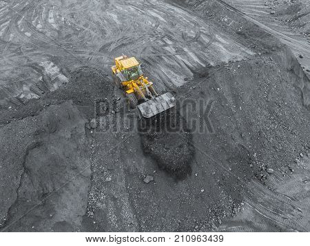 Open pit mine, breed sorting, mining coal, extractive industry anthracite, Coal industry, black gold