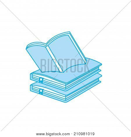 contour education notebooks object with notepaper design vector illustration