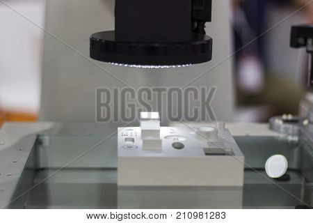 Master sample inspected by optical CMM ; selective focus