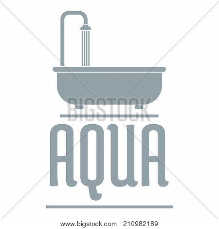 Aqua logo. Simple illustration of aqua vector logo for web
