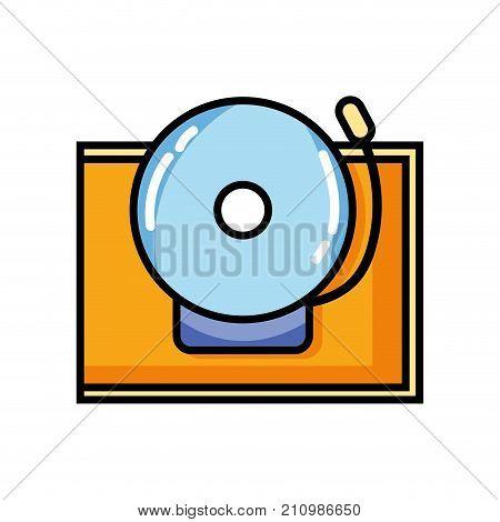 school bell alert object design vector illustration