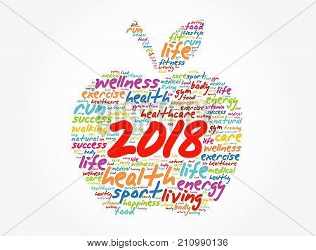 2018 Apple Word Cloud Collage