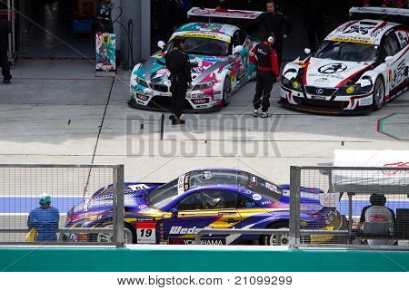 Lexus team Bandoh at the Malaysian SuperGT race