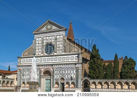 Santa Maria Novella is a church in Florence Italy. Chronologically it is the first great basilica in Florence and is the city's principal Dominican church. Facade