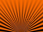 A slightly wavy orange and black sunrise image. poster