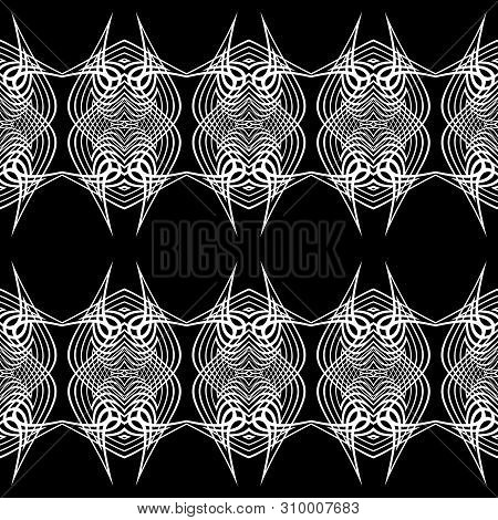 Design seamless monochrome grid pattern. Abstract lacy background. Vector art poster
