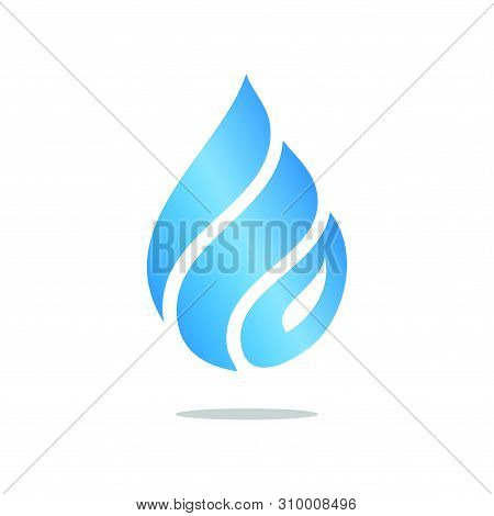 Water Wave Icon Isolated On White Background. Water Wave Icon Simple Sign. Water Drop Icon Trendy An