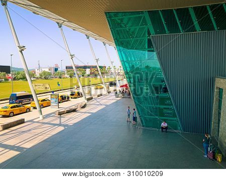 Tirana, Albania. June 2019: Tirana International Airport Nene Tereza, Commonly Rinas International A
