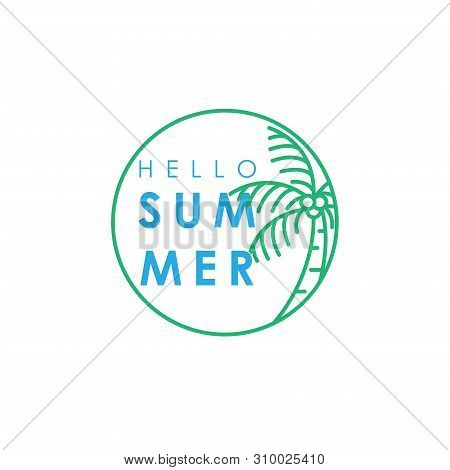 Hello Summer. Summer Season. Summer. Summer Time. Happy Summer. Summer Day. Summer Design. Summer Vector. Summer Text. Summer Lettering. Summer Art, EPS10. Summer Background. Summer Time. Summer Icon, Summer Illustration. Summer Holidays