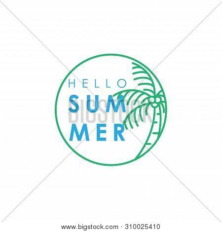 Hello Summer. Summer Season. Summer. Summer Time. Happy Summer. Summer Day. Summer Design. Summer Vector. Summer Text. Summer Lettering. Summer Art, EPS10. Summer Background. Summer Time. Summer Icon, Summer Illustration. Summer Holidays