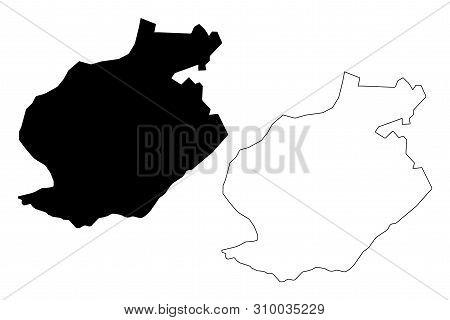 Harare Metropolitan Province (republic Of Zimbabwe, Provinces Of Zimbabwe) Map Vector Illustration,