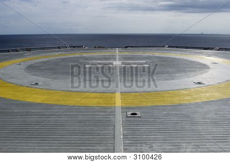 Helicopter Pad On The Drillship