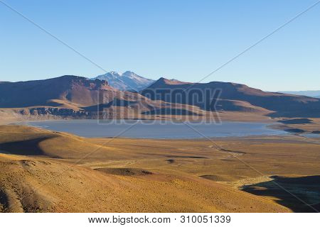 Bolivian Landscape, Morejon Lagoon View, Bolivia. Andes Plateau