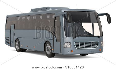 Modern Tourist Bus, 3d Rendering Isolated On White Background