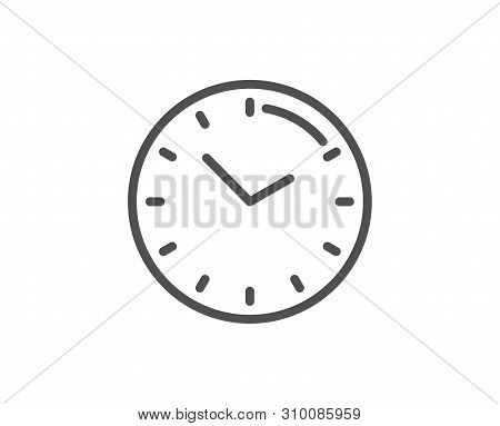 Time Management Line Icon. Clock Sign. Watch Symbol. Quality Design Element. Linear Style Time Icon.