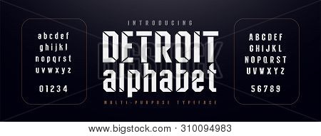 Urban Modern Alphabet Font. Typography Simple Condensed High, Tall Multi Purpose Typeface Style Font