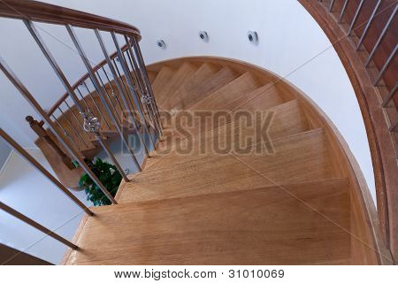 Curved Timber Stairs
