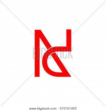 Letter Nd Simple Geometric Line Logo Vector
