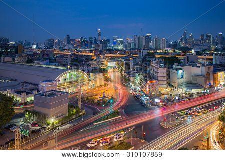 Bangkok Thailand - April 7 2019 : Bangkok Central Train Station (hua Lamphong Railway Station). This